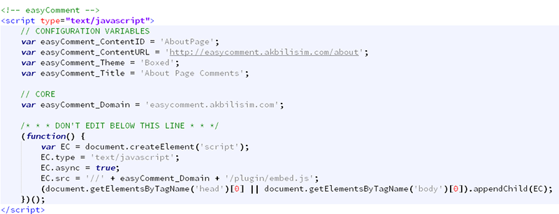 how to put comment on asp page